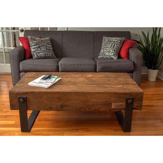 Table salon- poutre de bois